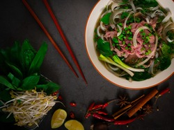 Phở Bò - Traditional Vietnamese beef noodle soup