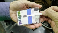 pH measurement testing, Acids-Bases balance testing, pH indicator range 0-14 test strips
