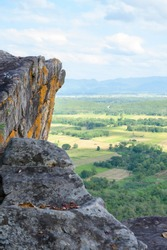 Pha Hua Reua Cliff with Mountain View in Phayao Province, Thailand.