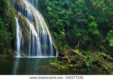 Pha nam yod waterfall, Thailand  #160277330
