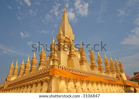 Pha That Luang - Buddhist monument in Vientiane, Laos