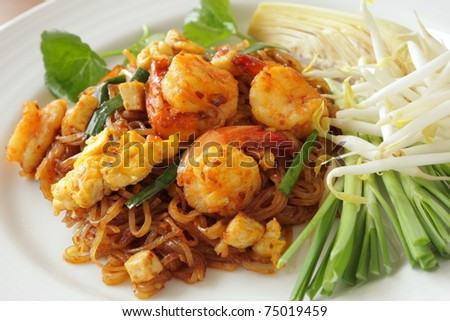 Phad Thai (Stir Fried Noodle with Shrimp)