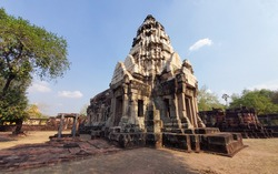 Phanom-wan castle is Khmer architecture art in Khmer civilization period about Buddhist century 16-17, Nakhon-rat-cha-sima province Thailand.