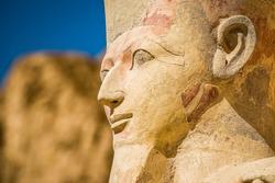 pharaoh sculptures of Hatshepsut Temple