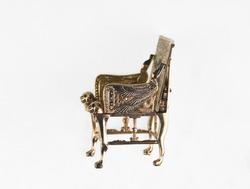 pharaoh throne isolated on white background