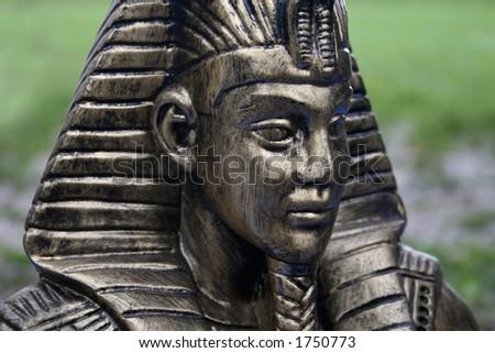 Pharaohs head - stock photo