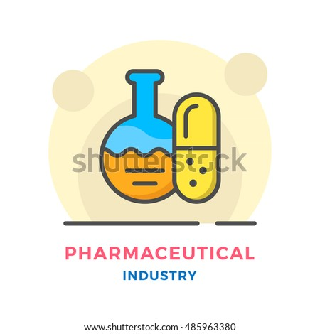 Pharmaceutical industry concept isolated on white