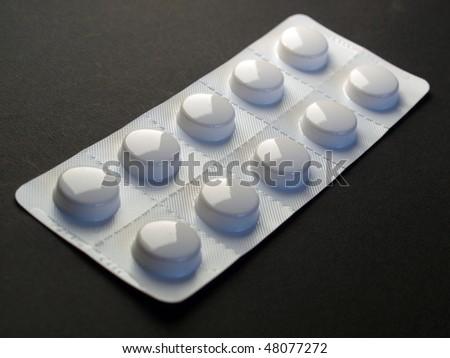 Pharmaceutical over the counter or prescription pills - stock photo
