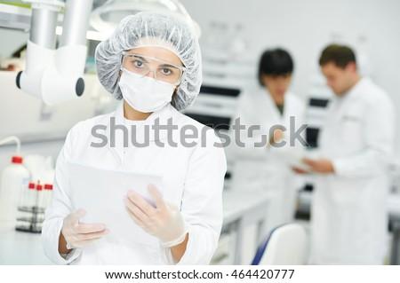 Pharmaceutical staff worker in uniform