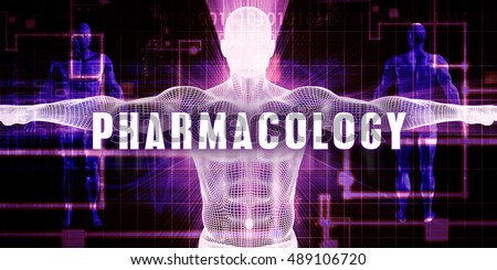 Pharmacology as a Digital Technology Medical Concept Art 3D Illustration Render