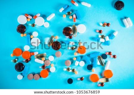 Pharmacology medicine background #1053676859