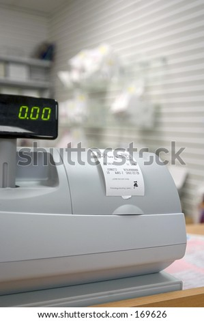 Pharmacy Cash Register - stock photo