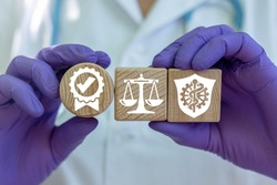 Pharmacy Compliance Medical Standards Quality Assurance Control Concept.