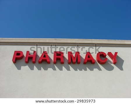Pharmacy Sign - stock photo