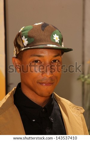 """Pharrell Williams at the """"Despicable Me 2"""" Los Angeles Premiere, Universal Citiwalk, Universal City, CA 06-22-13"""