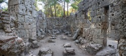 Phaselis ancient city ruins. Roman baths. Kemer, Antalya,Turkey