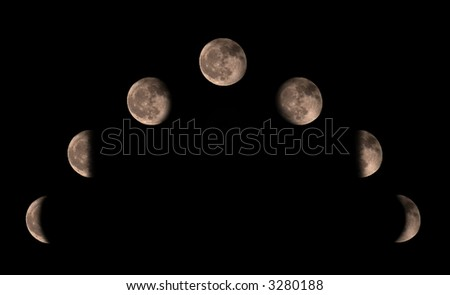 Phases of the moon in a composition.