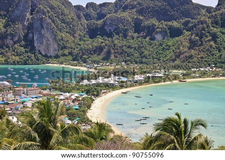 Phi-Phi Don island view