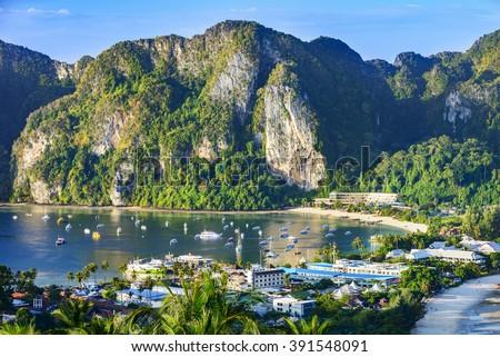 Phi Phi Islands. Located in Ao Ton Sai, Phi Phi Islands, Thailand.