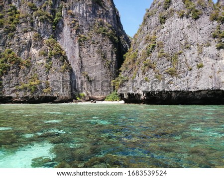 phi phi lagoon, phi phi islands, thailand