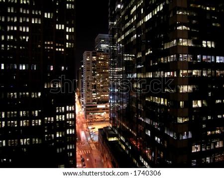 Philadelphia at bedtime - except for the businessmen.