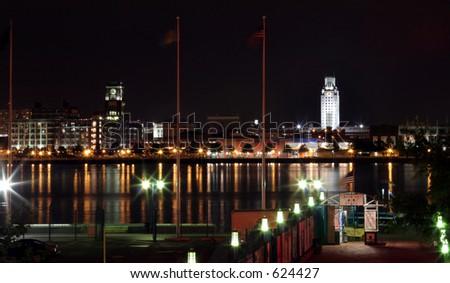 Philadelphia at night - stock photo