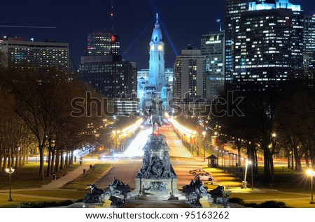 Philadelphia City Hall building.
