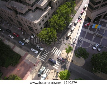 Philadelphia intersection from above.