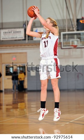 PHILADELPHIA - JANUARY 14: Germantown Academy player Kiernan McCloskey takes a jumper during a game in the Rally Girls Play by Play Classic January 14, 2012 in Philadelphia.