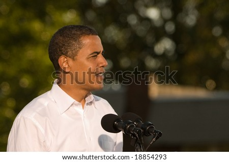 PHILADELPHIA - OCTOBER 11: Democratic Presidential nominee Senator Barack Obama speaks at a rally in Progress Plaza on October 11, 2008 in Philadelphia, Pennsylvania