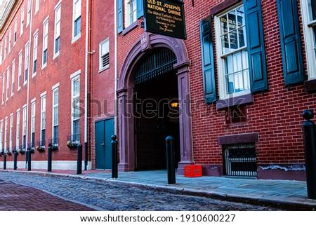 Philadelphia Pa. Historic Church's 18th Century Foto stock ©