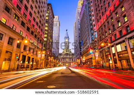 Philadelphia, Pennsylvania, USA downtown at city hall. #518602591