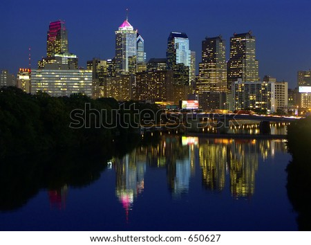 Philadelphia Skyline - stock photo