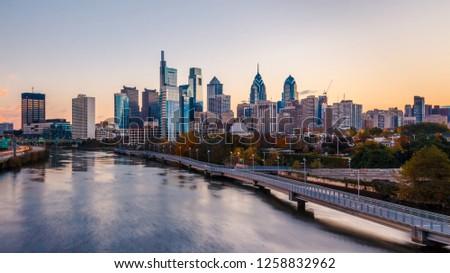 Philadelphia skyline at sunrise #1258832962