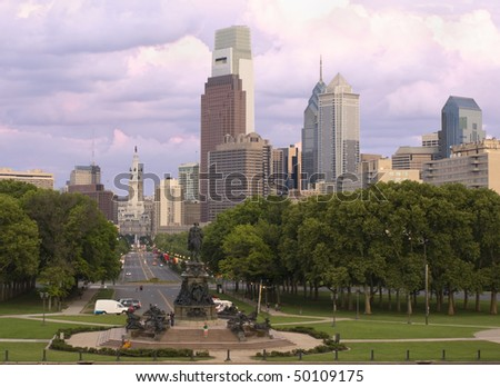 Philadelphia skyline, Pennsylvania