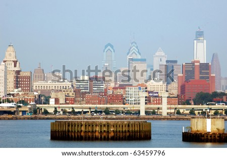 Philadelphia waterfront at Penn's Landing