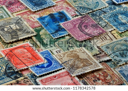 Philately is the field of collecting and studying the history of national postage stamps . The fee for sending items by mail. #1178342578