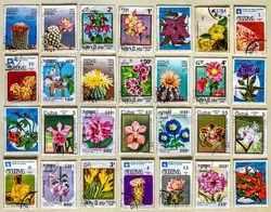 Philately : Spring themed stamp collection.