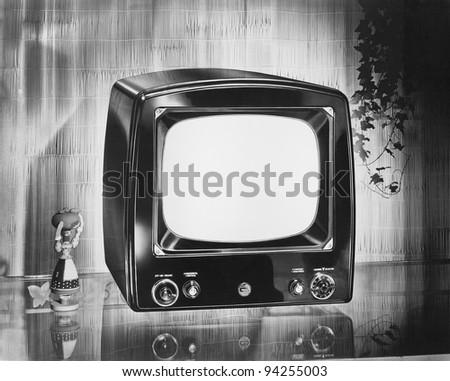 Philco brand portable television, circa 1952 - stock photo