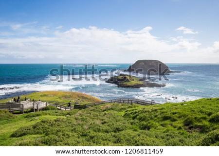 Philip lsland, Victoria, Australia - Oct 13, 2018: beautiful scenes in Philip Island, a popular day trip from Melbourne, lies just off Australia's southern coast