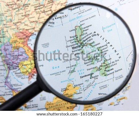 Philippines under magnifier