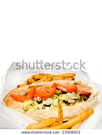 Philly Cheese Steak - stock photo