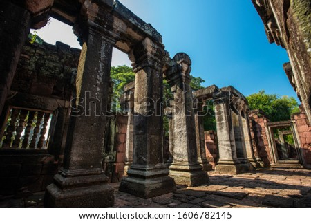 Phimai Historical park : historical park and ancient castle in Nakhon Ratchasima, Thailand.