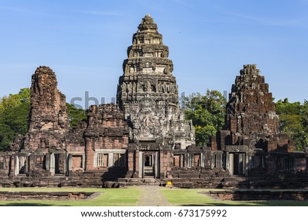 Phimai Historical Park Phimai Historical Park protects one of the most important temples of Cambodia. #673175992
