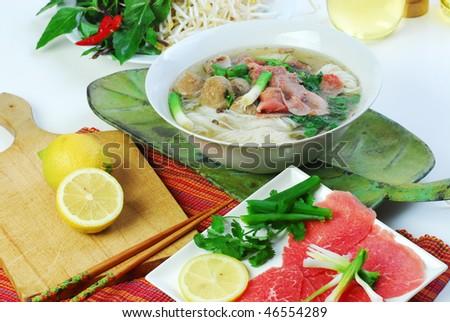 pho tai Vietnamese - stock photo