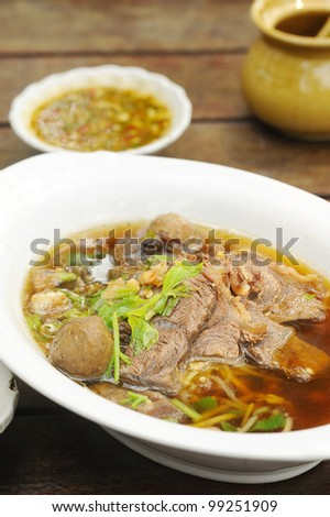 pho - vietnamese beef noodle soup - thai noodle with beef