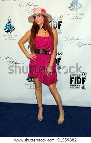 Phoebe Price at the L.A. Fashion Industry Makes A Difference for Israel runway fashion show, Century Plaza Hotel, Century City, CA. 05-12-11