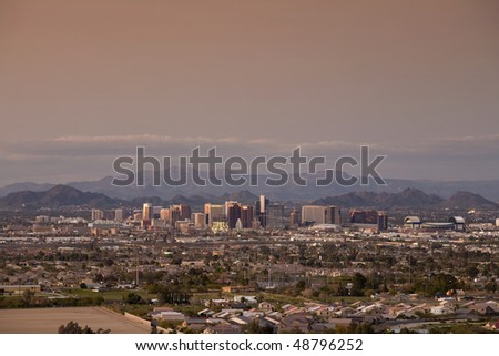 Phoenix, Arizona Skyline and Valley