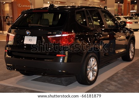 PHOENIX, AZ - NOV 25: BMW X3 SUV at the Arizona International Auto Show on November 25, 2010 in Phoenix, Arizona