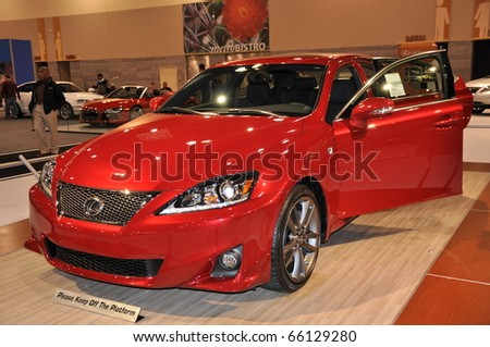 PHOENIX, AZ - NOV 25: Lexus Sedan at the Arizona International Auto Show on November 25, 2010 in Phoenix, Arizona